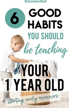 6 Good Habits You Should Be Teaching Your Toddler Early On - Baby Care , 6 Good Habits You Should Be Teaching Your Toddler Early On Teaching your toddler manners can and should start early on. These are simple habits you ca. Activities For 1 Year Olds, Infant Activities, Parenting Toddlers, Parenting Advice, Parenting Quotes, Baby Toys, Teaching Kids Respect, Teaching Babies, Teaching Manners