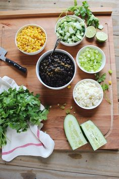 Recipe: Chilled Black Bean, Feta & Cucumber Salad — Healthy Lunch Recipes from The Kitchn | The Kitchn lunch recipes, cucumber salad, cucumb salad, black bean, healthy lunches