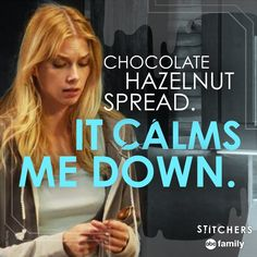 "S1 Ep11 ""When Darkness Falls"" - Calms us down, too. #StitchersHalloween"