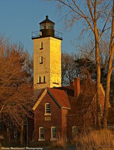 Lighthouse at Sunset Light.~ Presque Isle, Erie, PA