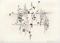 """""""Konstellationen"""", 1971 carpeta con 25 calcografia, grabado, erosivo y aguatinta sobre arches papel hecho a mano tamaño de la plancha 24 x 35 cm tamaño de la hoja 38 x 75 cm  chascar por favor la imagen para agrandar"""