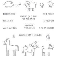 À la ferme Clear-Mont Stamp Set (français) par Stampin 'Up!