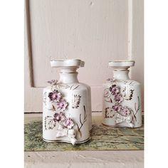 """""""I love these pink vintage perfume bottles I purchased from @lauravenosa ~ thanks Laura x"""""""