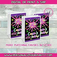 Mermaid Party Favors, Birthday Gift Bags, Brochure Paper, Custom Gift Bags, Craft Bags, Candy Party, Candy Bags, Printing Labels, Picture Design