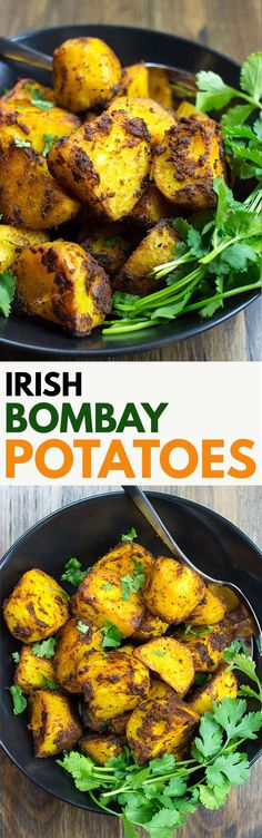 The Best Curried Potatoes in the World #side #oven | hurrythefoodup.com