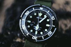 """Seiko Marinemaster SBDB009 'Spring Drive Tuna' Watch Review - check out the full in-depth review diving with it - on aBlogtoWatch.com """"Seiko dive watches are known as being some of the best, most reliable divers out there, and it is for due cause. The SKX line (commonly known as the 'monster') and the watch I'm reviewing today - the Seiko Marinemaster SBDB009 'Spring Drive Tuna' are a couple of the most well-known dive watches out there, period..."""""""