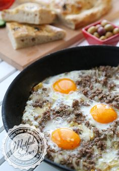 How to Make a Potato with Egg Tricks of the recipe, thousands of … - Food and Drink Turkish Recipes, Greek Recipes, Egg Recipes, Italian Recipes, Ethnic Recipes, Recipies, Greek Cooking, Cooking Time, Turkish Breakfast