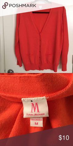 Isaac Mizrahi Cardigan🍁🍁BOGO🍁🍁 Like new orange cardigan. Tag says medium but fits like a large. This is a reposh but too long and big for me. I'm a petite medium. Isaac Mizrahi Sweaters Cardigans