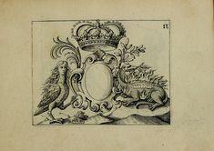 by Ch.Mavelot, from the 'Nouveau Livre de Differens Cartouches, Couronnes, Casques, Supports et Tenans'