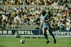 England captain Bobby Moore in action at the 1970 World Cup Finals.