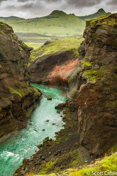 Torfauhlaup Gorge near Alftavatn, Iceland by Scott Cable via 500px.