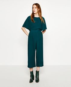 Image 2 of CROPPED LAYERED JUMPSUIT from Zara