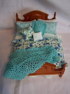 DOLLS HOUSE LUXURY BED SET  JANE by LittleHouseAtPriory on Etsy, $70.00