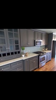 slate cabinets - white top? Kitchen Cabinet Layout, Kitchen Cabinets, Boulder Lodge, Grey Cabinets, Slate, Kitchens, Homes, Ideas, Top