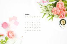 free April Desktop wallpaper calendar Spark and chemistry