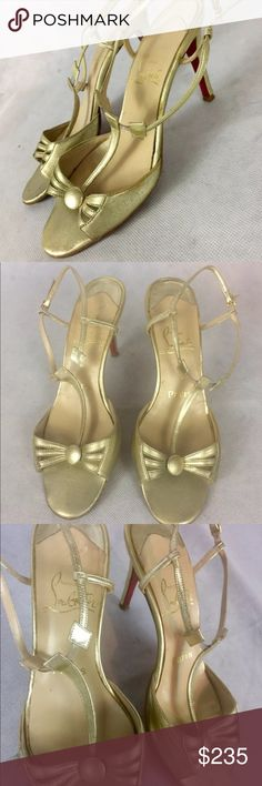 d591fefac72f Shop Women s Christian Louboutin Gold size 8 Sandals at a discounted price  at Poshmark.