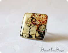 Ring Steampunk Gift idea for her under 30 50 by SunDevonaDesign, $12.00