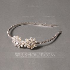 Headbands Wedding Special Occasion Party Rhinestone Alloy Freshwater Pearl 5.91