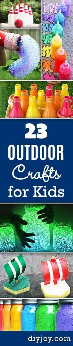 23 Incredibly Fun Outdoor Crafts for Kids, DIY and Crafts, Fun Outdoor Crafts For Kids Summer Crafts Ideas for Kids to Make at Home and DIY Projects for Children. Summer Crafts For Kids, Crafts For Kids To Make, Summer Diy, Crafts For Teens, Projects For Kids, Fun Crafts, Diy And Crafts, Craft Projects, Arts And Crafts