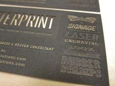 Laser etched business card.