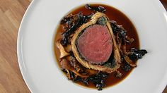 Beef Wellington with wild mushroom Madeira sauce - James Martin