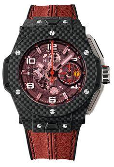 """Big Bang Ferrari Carbon Red Magic a Ferrari at wrist """"sounds good"""".."""