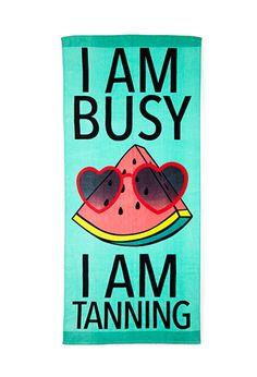 """""""I AM BUSY, I AM TANNING""""  Meşgul plaj havlusu :)"""