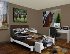 26 Equestrian Themed Bedrooms For Horse Crazy Girls Of All Ages « HORSE  NATION Girls Bedroom