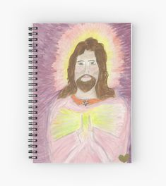 'Jesus' Spiral Notebook by tamra Oviatt Flower Of Life, High Energy, Sacred Geometry, Consciousness, Jesus Christ, Notebook, Canvas Prints, Watercolor, Activities