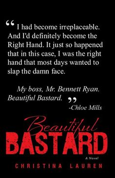 Beautiful Bastard - Book 1 of Beautiful series - hate the name of this book, but it is really good !! 4.5 Stars