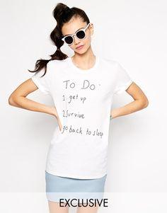 Camiseta estilo boyfriend con estampado To Go Back To Sleep de Adolescent Clothing