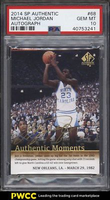 ee505f0d734505 2014 SP Authentic Moments Michael Jordan AUTO  68 PSA 10 GEM MINT (PWCC)   MichaelJordan