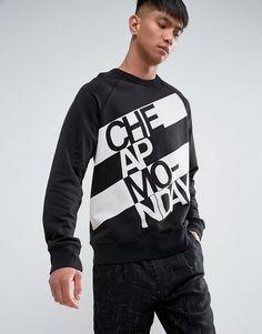 CHEAP MONDAY RULES SWEAT PROP LOGO - BLACK. #cheapmonday #cloth #