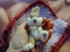 needle felted bunny w/ blanky by Tami King, via Flickr