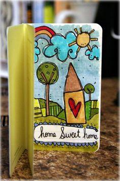 Home Sweet Home by Stephanie Ackerman in small Moleskine