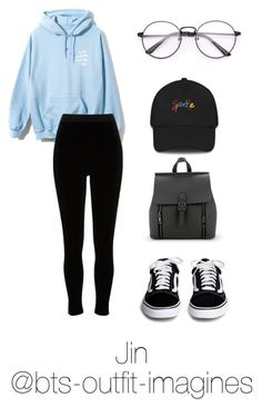 Skating with Jin by bts-outfit-imagines on Polyvore featuring moda and River Island