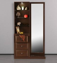 Buy Cambry Dressing Table in Walnut Finish by HomeTown Online - Modern Dressing Tables - Dressing Tables - Furniture - Pepperfry Product Bedroom Furniture Design, Dressing Table Design, Furniture, Interior, Dressing Table Mirror, Table Design, Wardrobe Design Bedroom, Dressing Room Design, Furniture Design