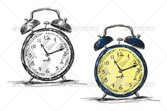 Retro Clock Vector Illustration