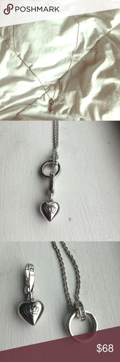"""Juicy couture necklace 17""""long layering necklace by Juicy Couture. Has a charm attached. Juicy Couture Jewelry Necklaces"""