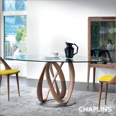£4136 Porada Infinity Glass Oval Dining Table by S. Bigi - Tables - DINING ROOM