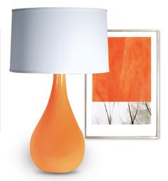Orange lamp and artwork from the CORT Signature Collection 2013
