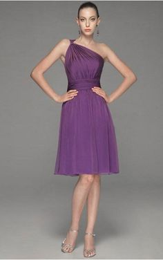 Find out the latest Chiffon One Shoulder A-line Knee-length Dress From Dressesy. From evening dresses to prom dresses, cocktail dresses to maxi dresses and more. Shop one from thousands of dresses here.