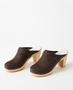 0eb3a833eb3 Swedish Modern Clog By Maguba in Black Suede Nubuck - main