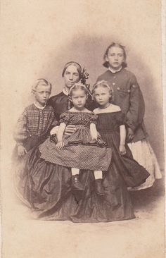 A mother and her children, Clyde, New York, c. mid-19th C.