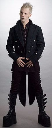 Industrial tailcoat - love this look (minus the boots) Doc. Martins would make it rock!