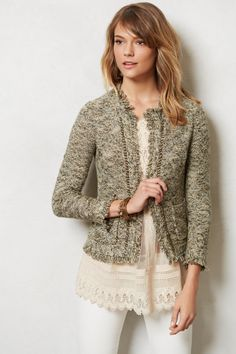 Fringed Eliot Cardigan - anthropologie.com
