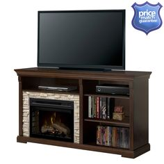 Hot Shots Hot Tubs and Spas - Dimplex  Edgewood  Media Console  Electric Fireplace   Model