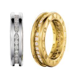 bvlgari mens gold diamond ring - Google Search