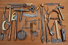 Old tools four by Thierry Vialard, via Dreamstime