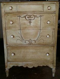 Refinished Antique Dresser | Antique dresser refinished by Tornadomind on Etsy